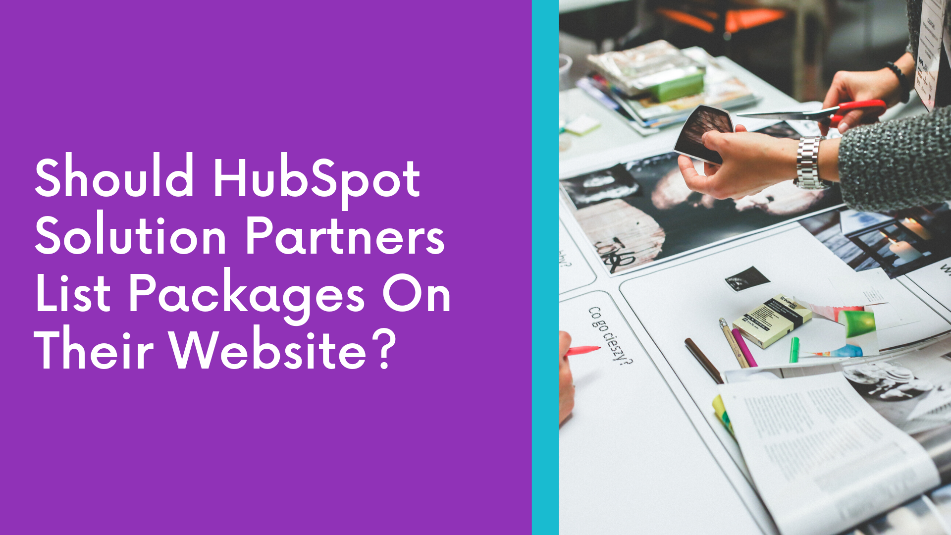 Should Hubspot Solution Partners List Packages On Their Website?
